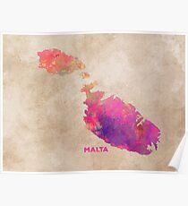 Malta map #malta #map Poster