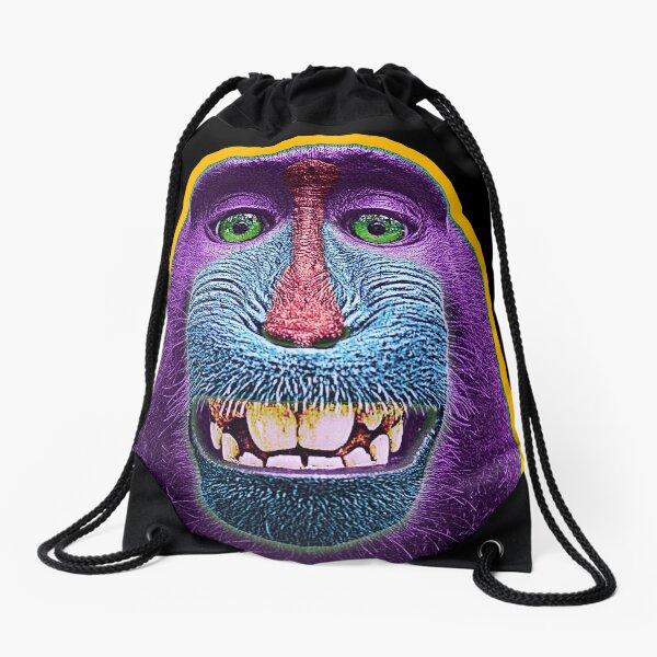 Baboon colored face Drawstring Bag