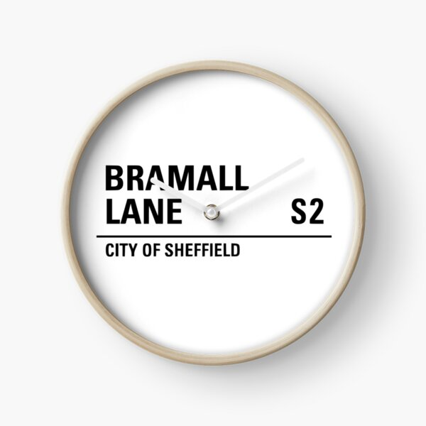 Sheffield , Bramall lane road sign design Clock