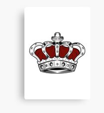 Crown - Red Canvas Print