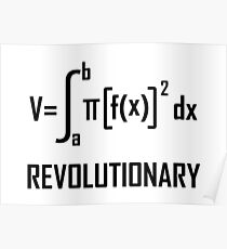 Revolutionary- Funny Maths Joke Poster