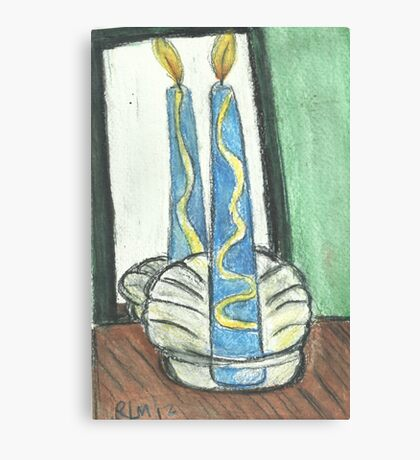 Light One Candle Canvas Print