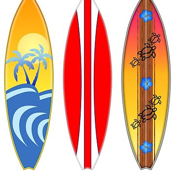 Retro Vintage Style Surfboards by BailoutIsland