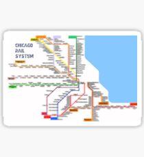 Chicago Rail System Sticker
