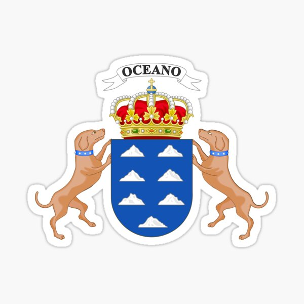Escudo de armas de canarias Pegatina