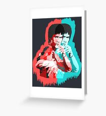 Bruce Lee Game of Death illusion Greeting Card