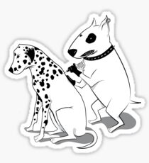 Bull Terrier and Dalmatian Sticker