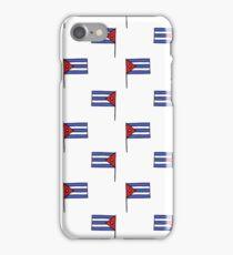 flag of Cuba pattern iPhone Case/Skin