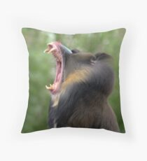 Mandrill at Melbourne Zoo III Throw Pillow