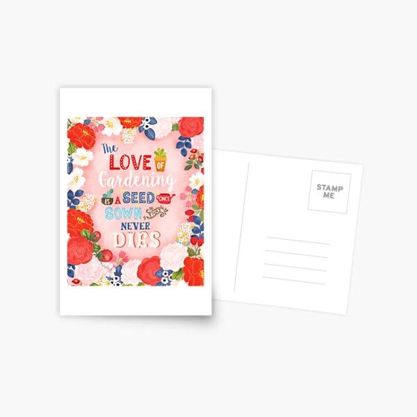 Rose Garden Hand Lettering & Illustration Postcard
