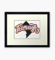 Skins Thoroughly Mapped Out Framed Print
