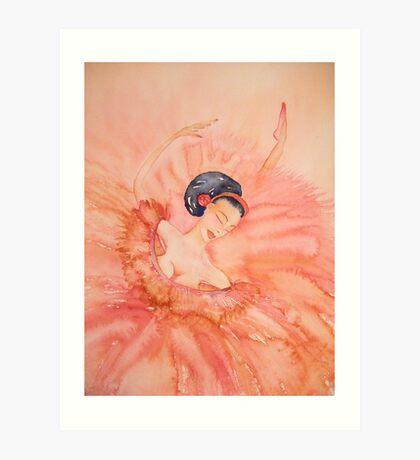 Attitude - Sur La Demi Pointe 'Le Belle Ballerine' © Patricia Vannucci 2008 Art Print