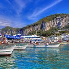 Boats in Capri by FLYINGSCOTSMAN