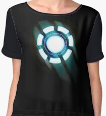 Arc Reactor T-shirt Design Chiffon Top