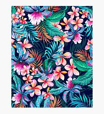 Tropical Aesthetic Blue Photographic Print