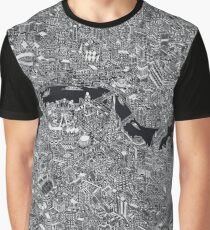 Map of London Thames Graphic T-Shirt