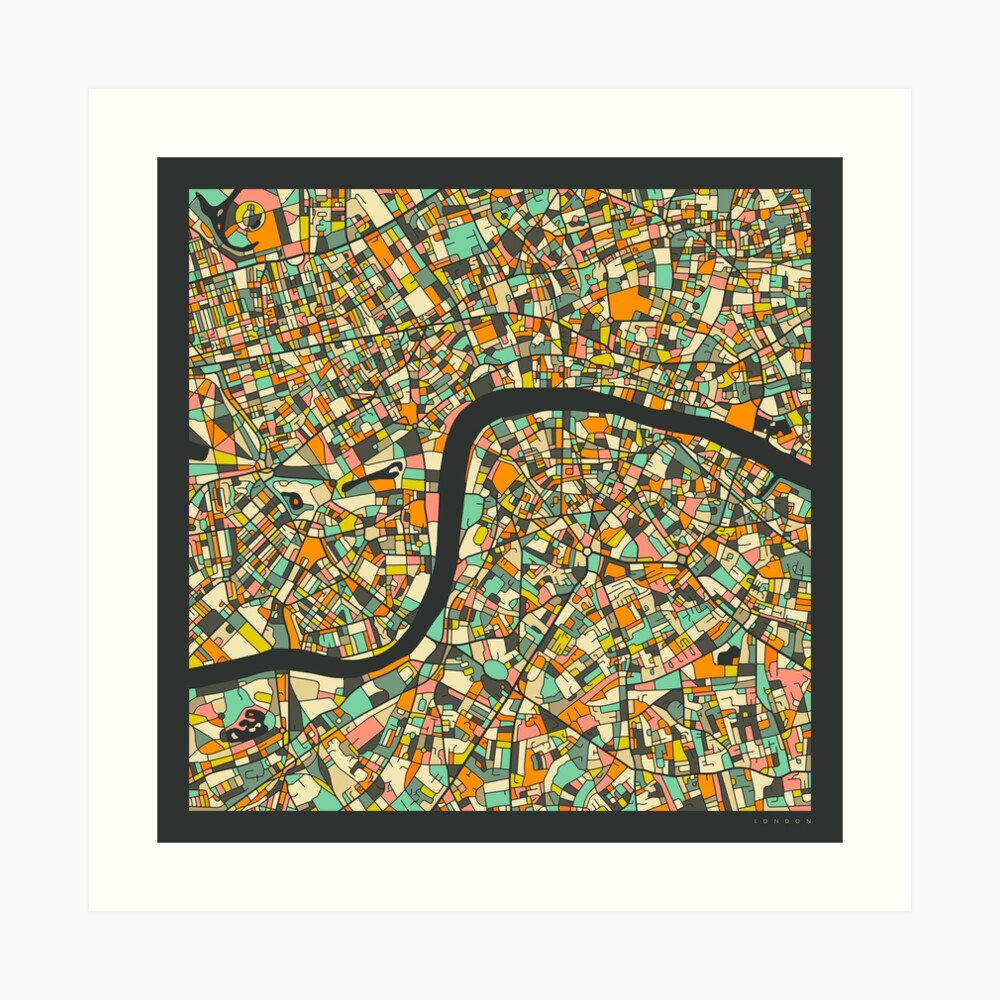 LONDON MAP (7) Art Print