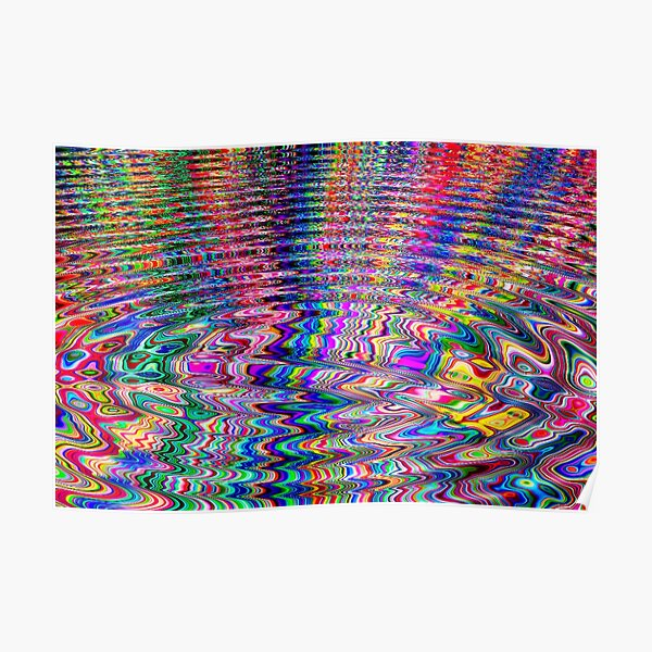 Bright Stripes Whirlpool Poster