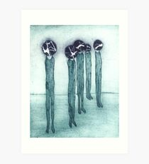 Every head is its own world.  Art Print