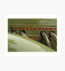 Auburn Speedster Art Print