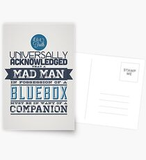 A Mad Man in Possession of a Blue Box Postcards