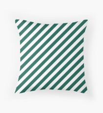 Celebration Town Green and Front Porch White Large Candy Cane Stripes Throw Pillow