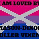 Mason-Dixon Roller Vixens love Bisexual by aj4787