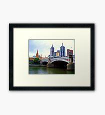 Princes Bridge Melbourne Framed Print