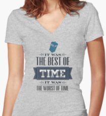 A Tale of One Doctor Women's Fitted V-Neck T-Shirt