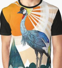 Crowned Crane Graphic T-Shirt