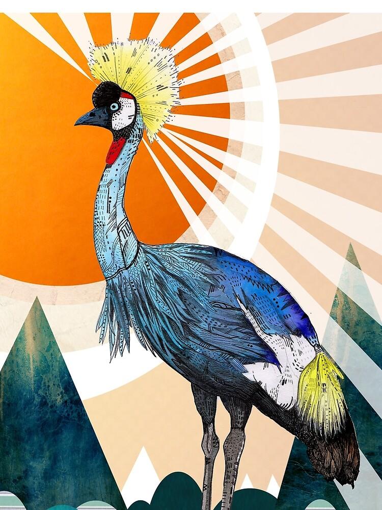 Crowned Crane by SandraDieckmann