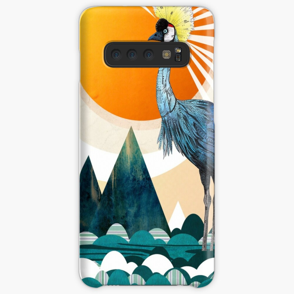 Crowned Crane Case & Skin for Samsung Galaxy