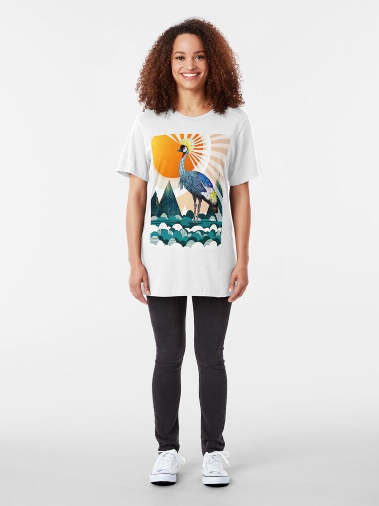 Alternate view of Crowned Crane Slim Fit T-Shirt