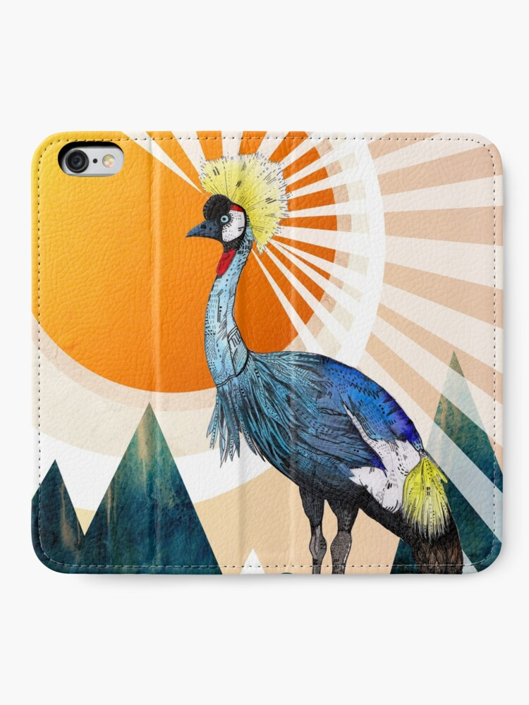 Alternate view of Crowned Crane iPhone Wallet