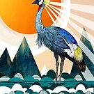 Crowned Crane by Sandra Dieckmann
