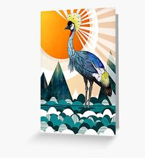 Crowned Crane Greeting Card