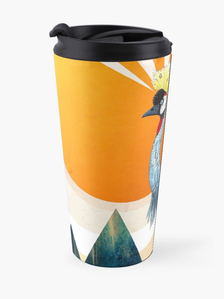 Alternate view of Crowned Crane Travel Mug