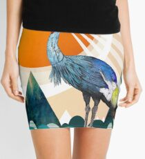Crowned Crane Mini Skirt