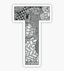 Zentangle T Sticker