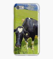 Cows On Green Alpine Pasture in Tyrol iPhone Case/Skin