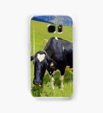 Cows On Green Alpine Pasture in Tyrol Samsung Galaxy Case/Skin