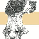 English Pointer Father & Son by BarbBarcikKeith