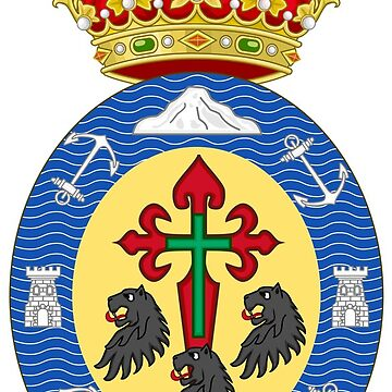 Coat of Arms of Santa Cruz de Tenerife, Canary Islands by Tonbbo