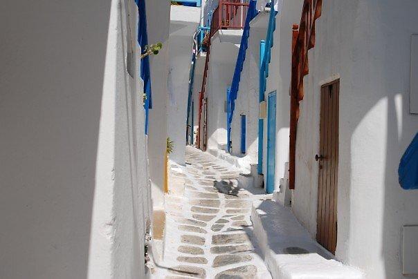 Streets of Mykonos by Galen  Stone
