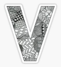 Zentangle V Sticker