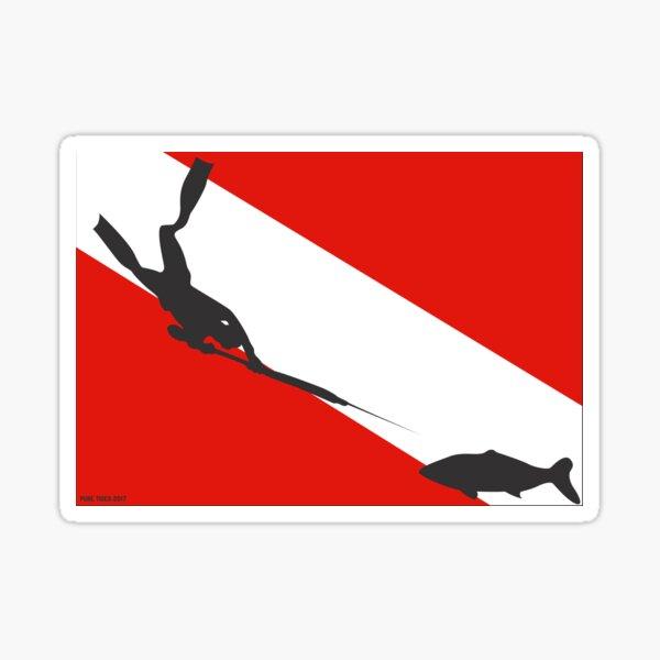 Spearfishing Freediver Dive Flag Sticker