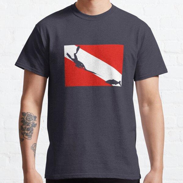 Spearfishing Freediver Dive Flag Classic T-Shirt
