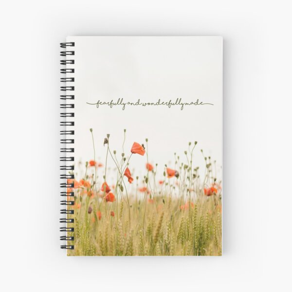 Fearfully and Wonderfully Made Spiral Notebook