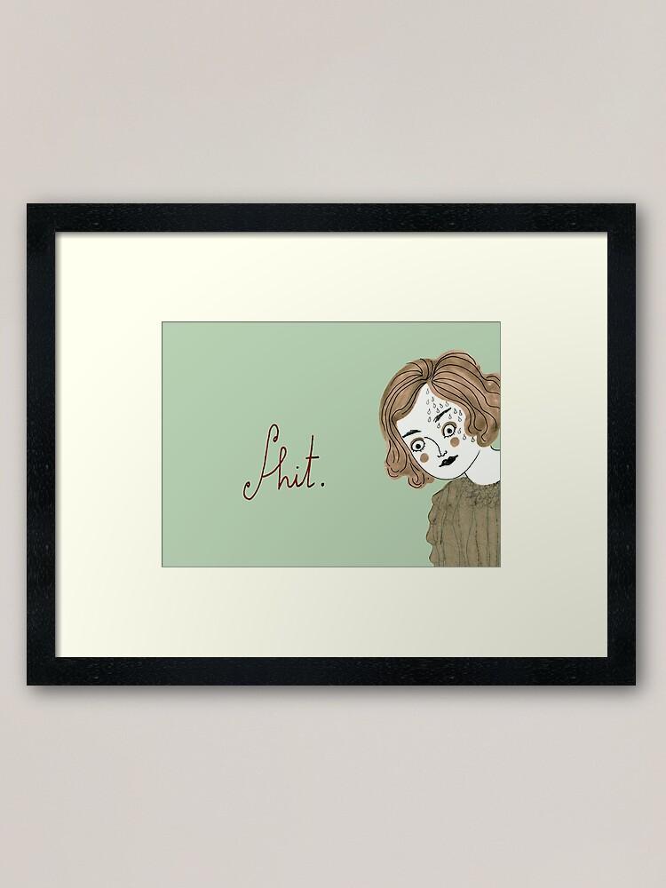 Alternate view of Oh no! Framed Art Print