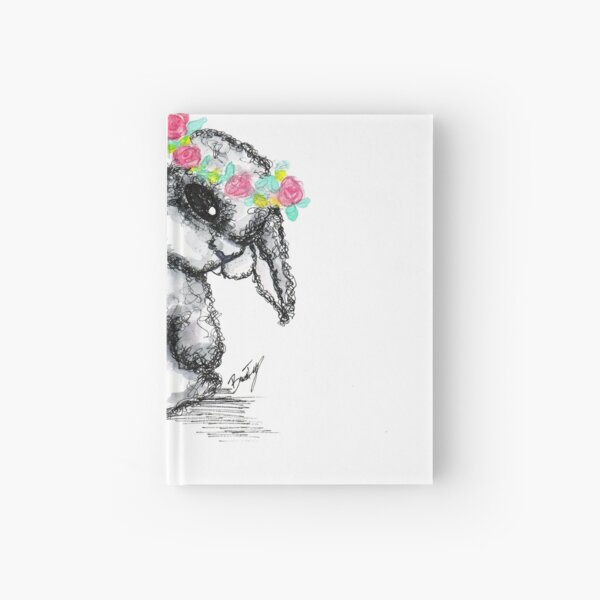 Floral Baby Bunny Hardcover Journal